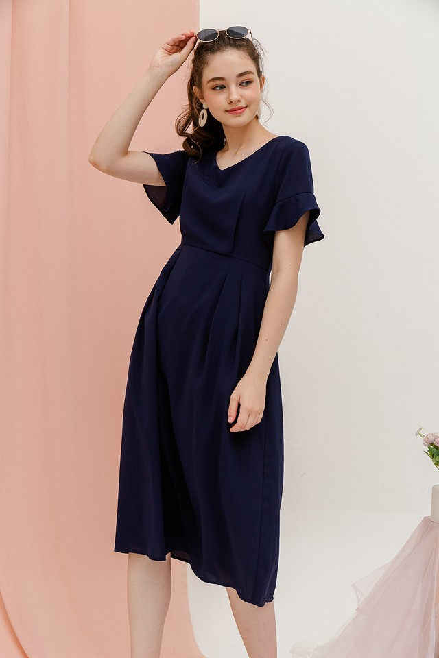 Amalia Dress Navy