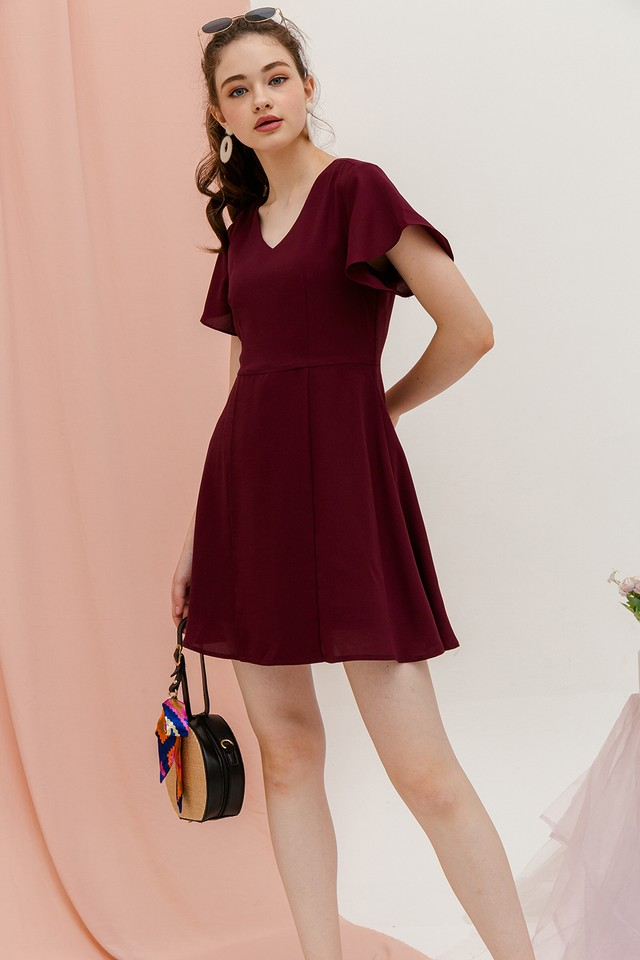 Denisa Dress Wine