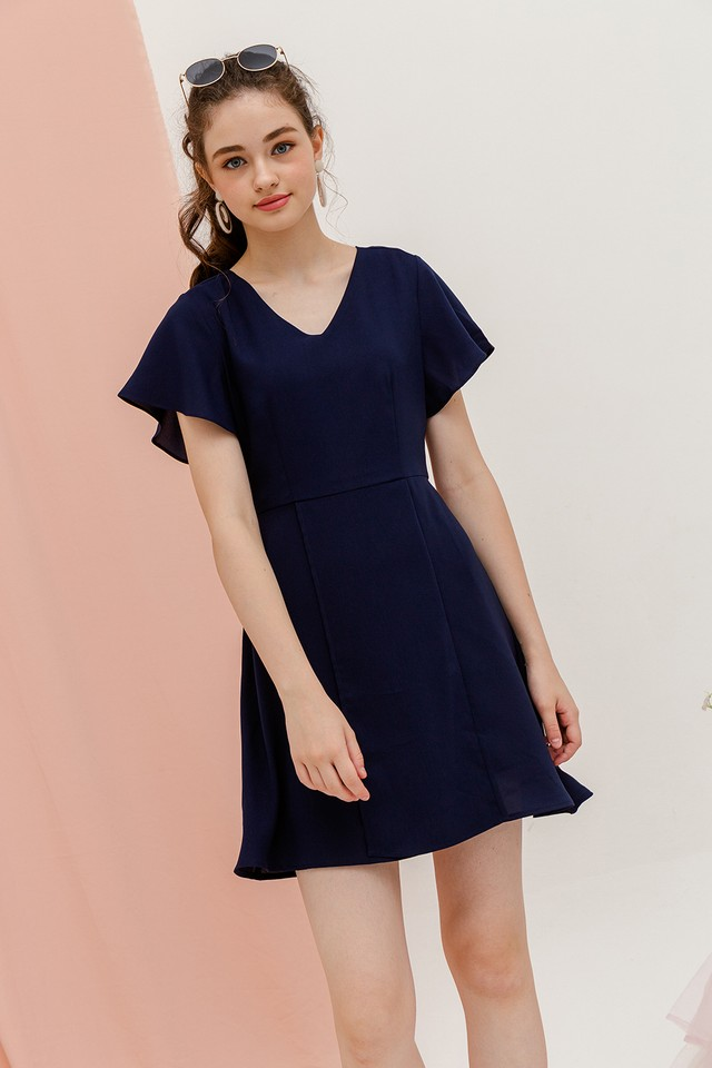 Denisa Dress Navy