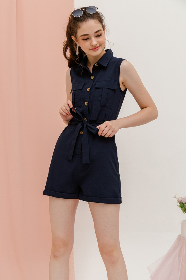 Yarra Playsuit Navy