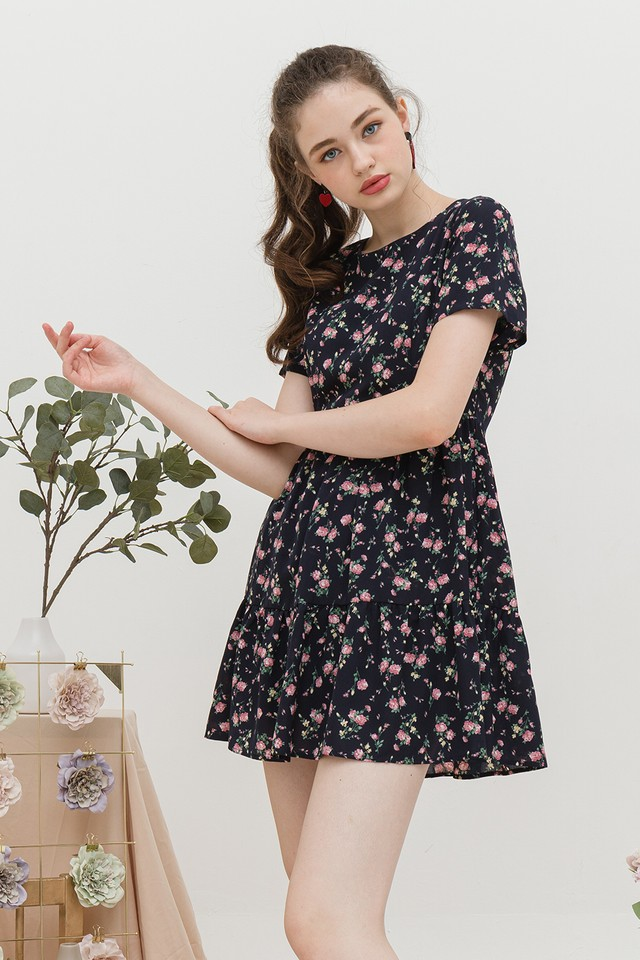 Pepper Dress Navy Floral