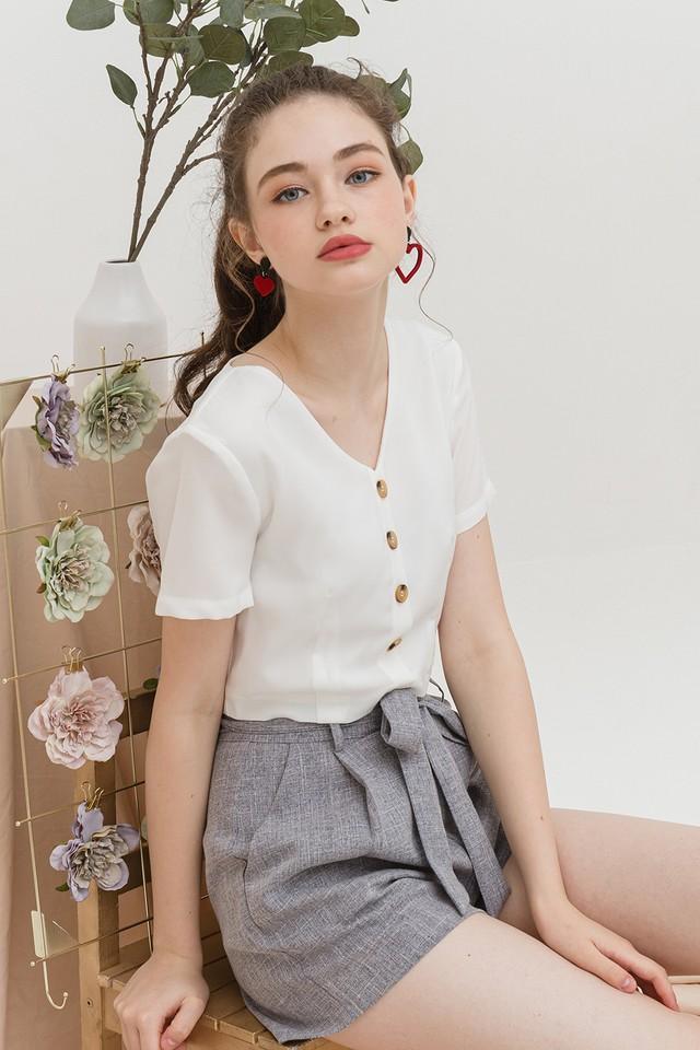 Ananya Top White