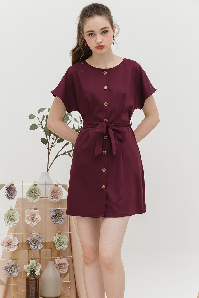 Iorra Dress Maroon