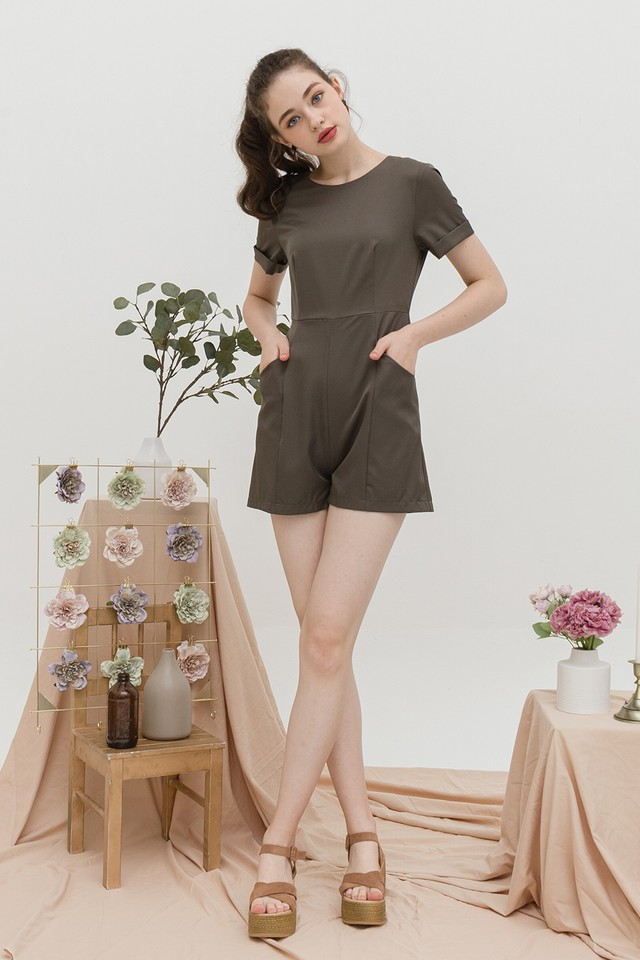 Nia Playsuit Army