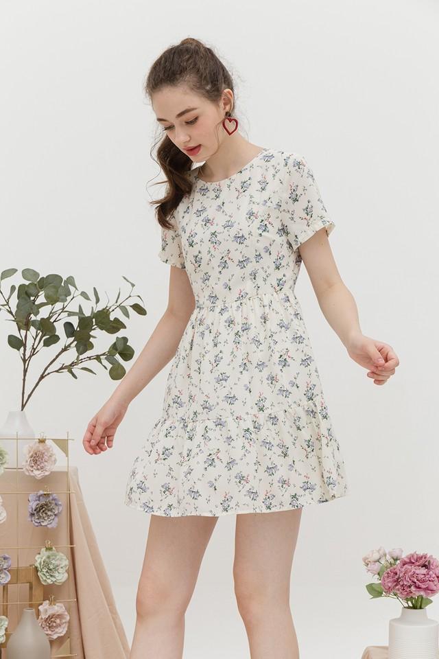 Pepper Dress Cream Floral