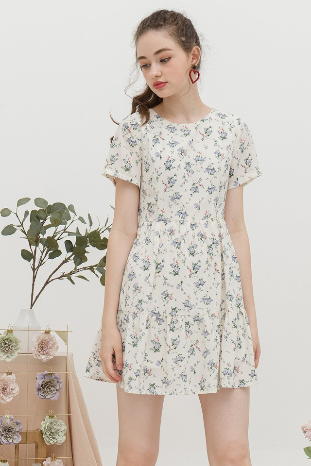 Pepper Dress Cream Floral