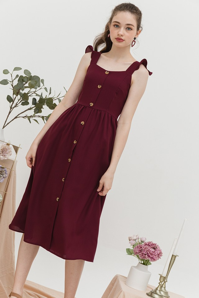 Briella Dress Maroon