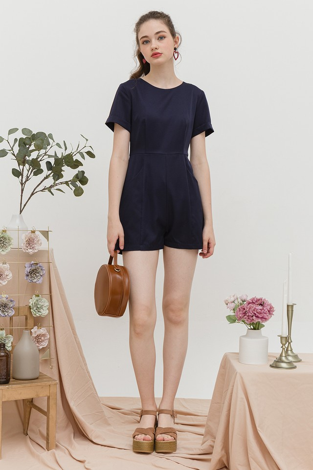 Nia Playsuit Navy