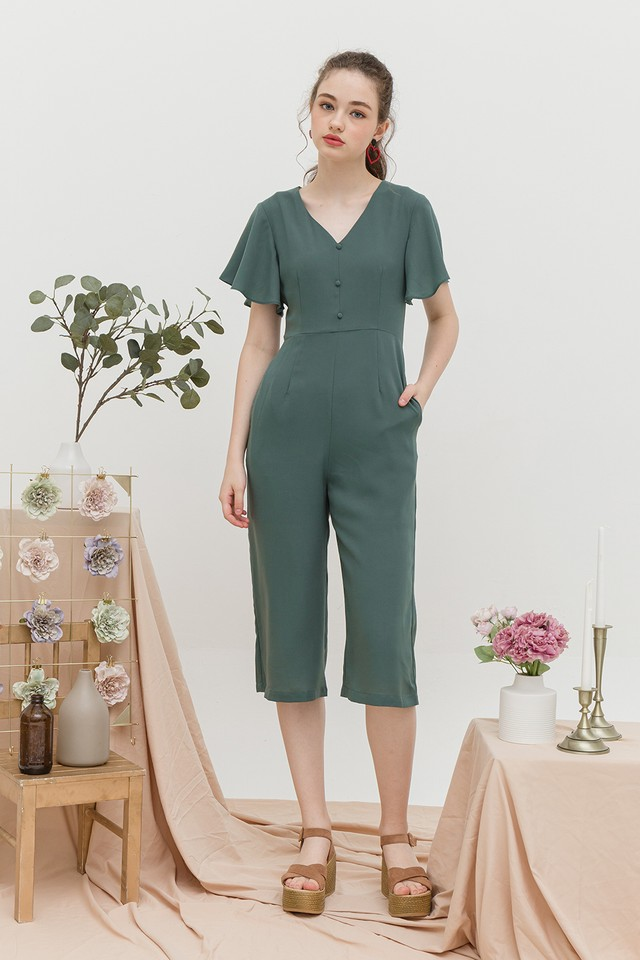 Addison Jumpsuit Pine Green