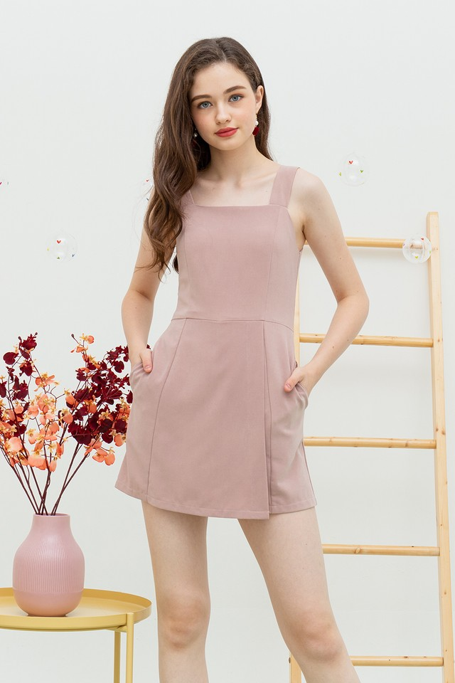 Yelaney Playsuit Dusty Pink