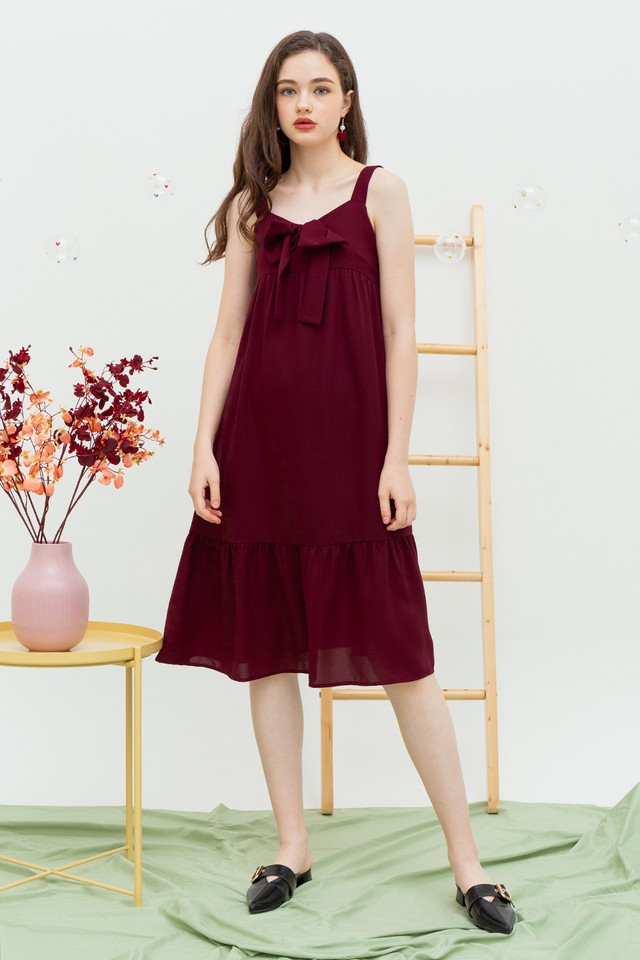 Jerrie Dress Maroon