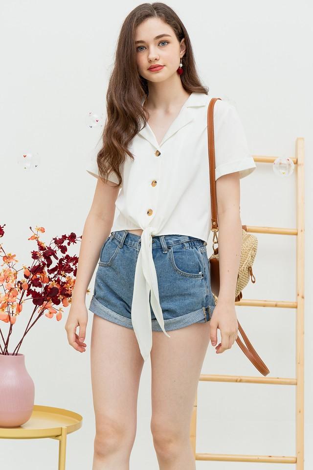Nyla Tie Shirt White