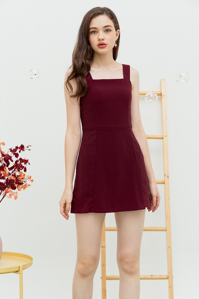Yelaney Playsuit Burgundy