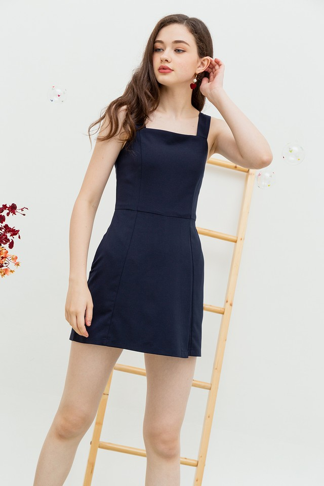 Yelaney Playsuit Navy