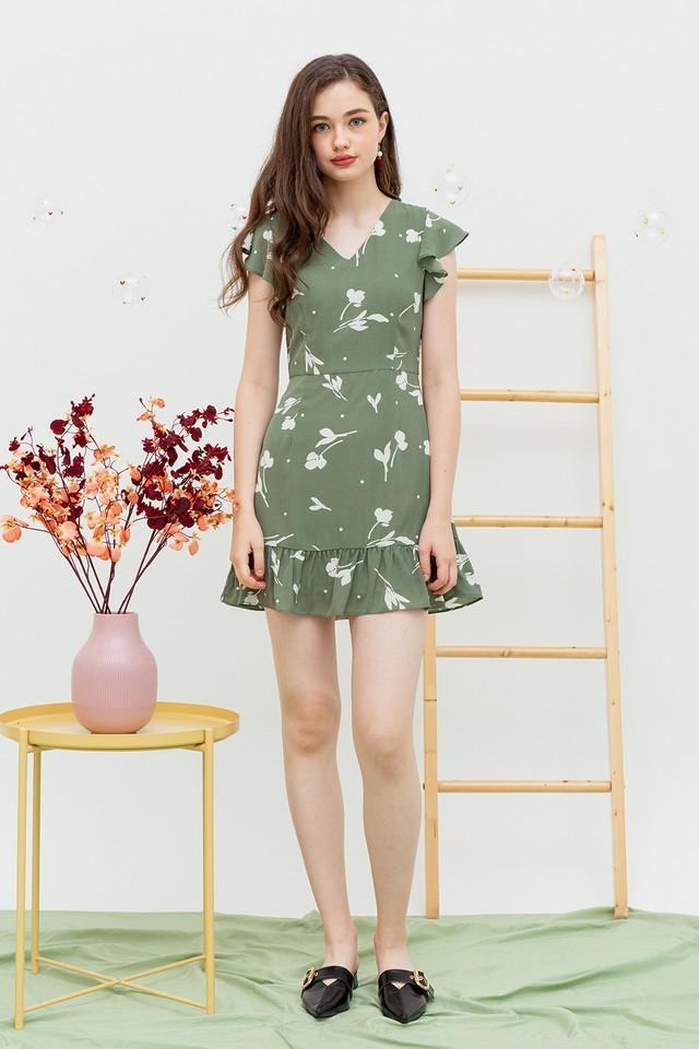 Zoey Dress Sage Floral