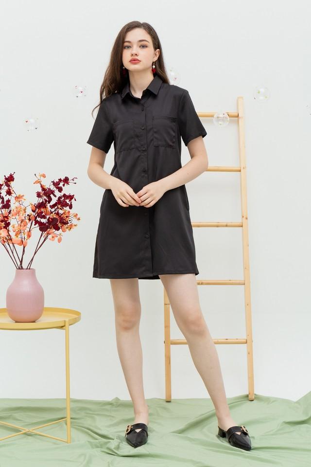 Irisha Shirtdress Black