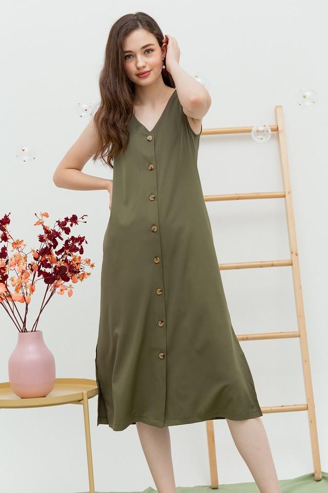 Leander Dress Olive