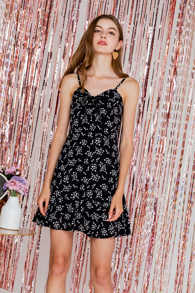 Kasper Dress Black Floral