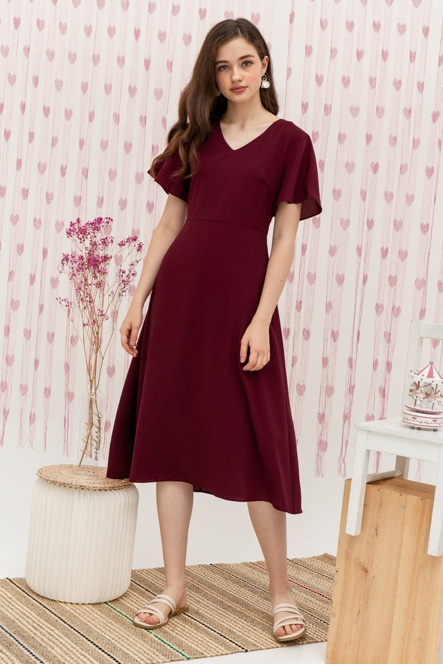 Merida Dress Burgundy