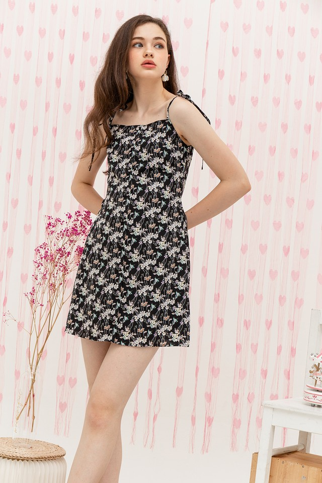 Antonia Dress Black Floral