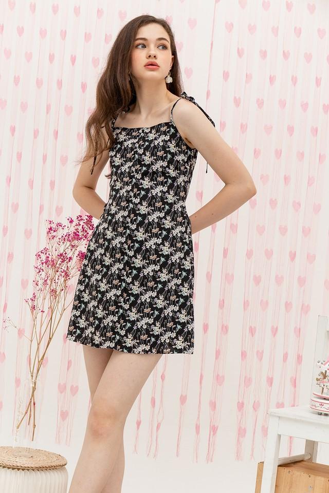Antonia Dress Black Floral
