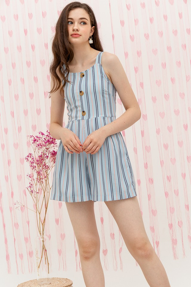 Elina Playsuit Blue Stripes