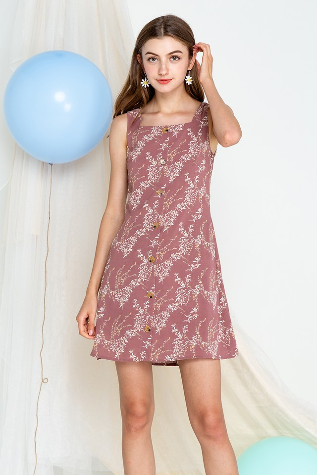 Kali Dress Mauve Floral