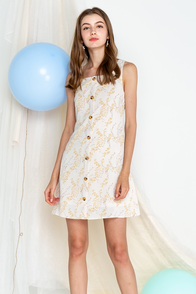 Kali Dress Cream Floral