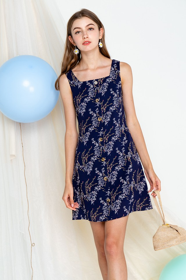 Kali Dress Navy Floral