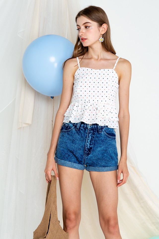 Emmie Top White Polka