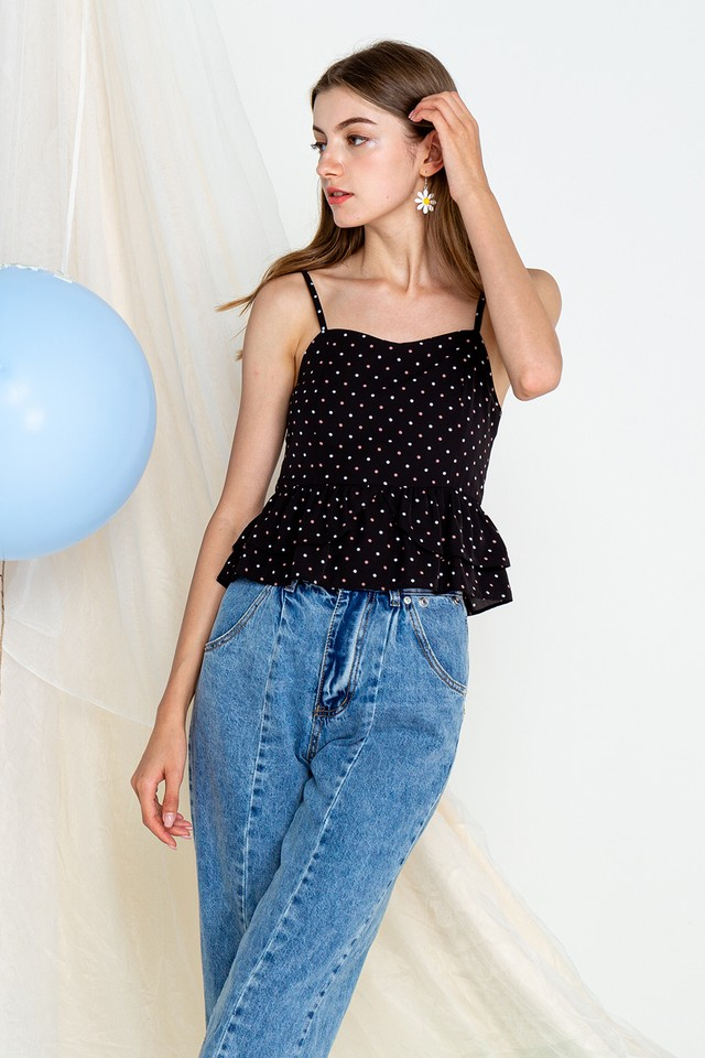 Emmie Top Black Polka