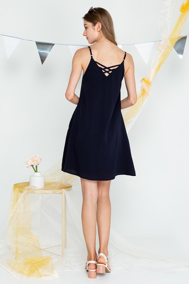 Mabel Dress Navy