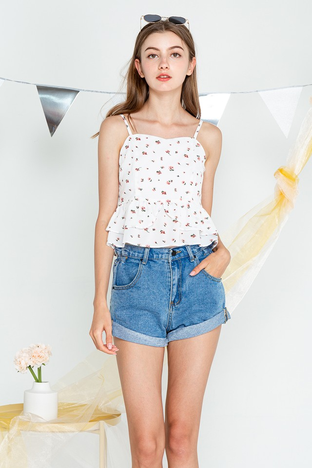 Coco Top White Floral