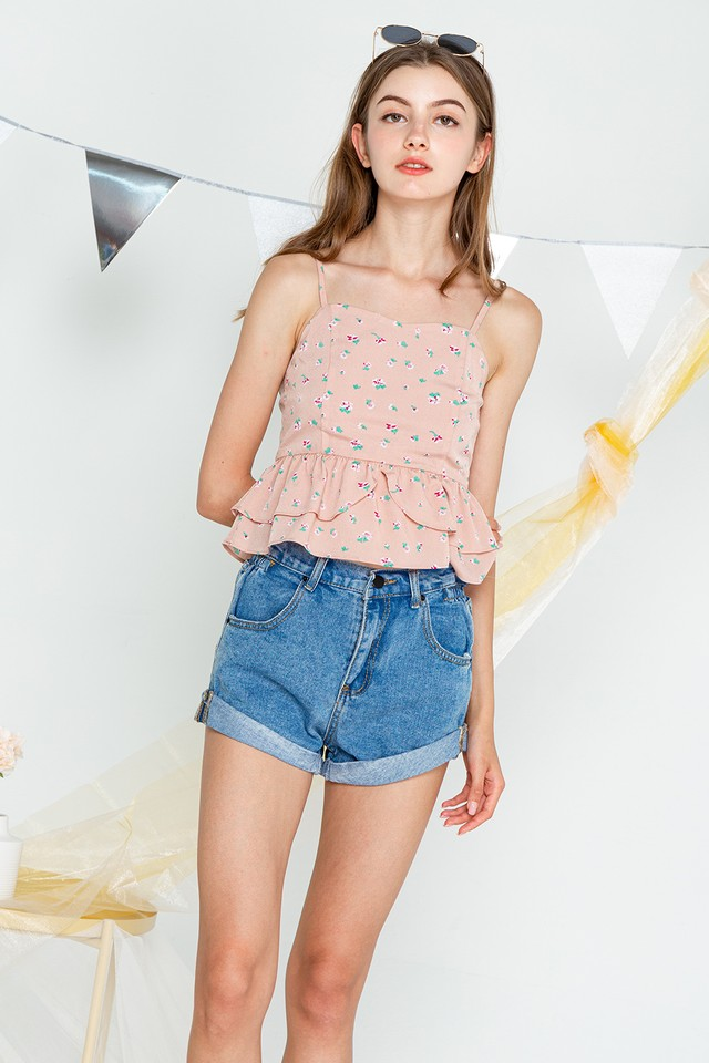 Coco Top Pink Floral