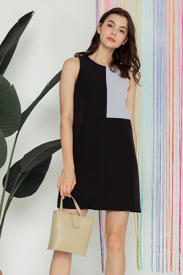 Kimberley Colourblock Dress Black