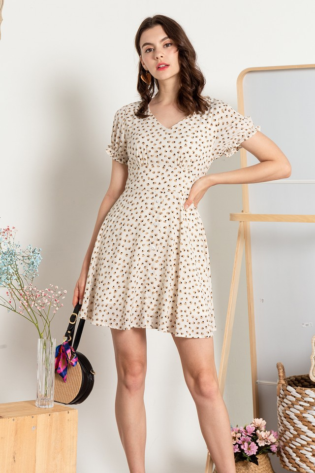 Ashlyna Dress Cream Heart