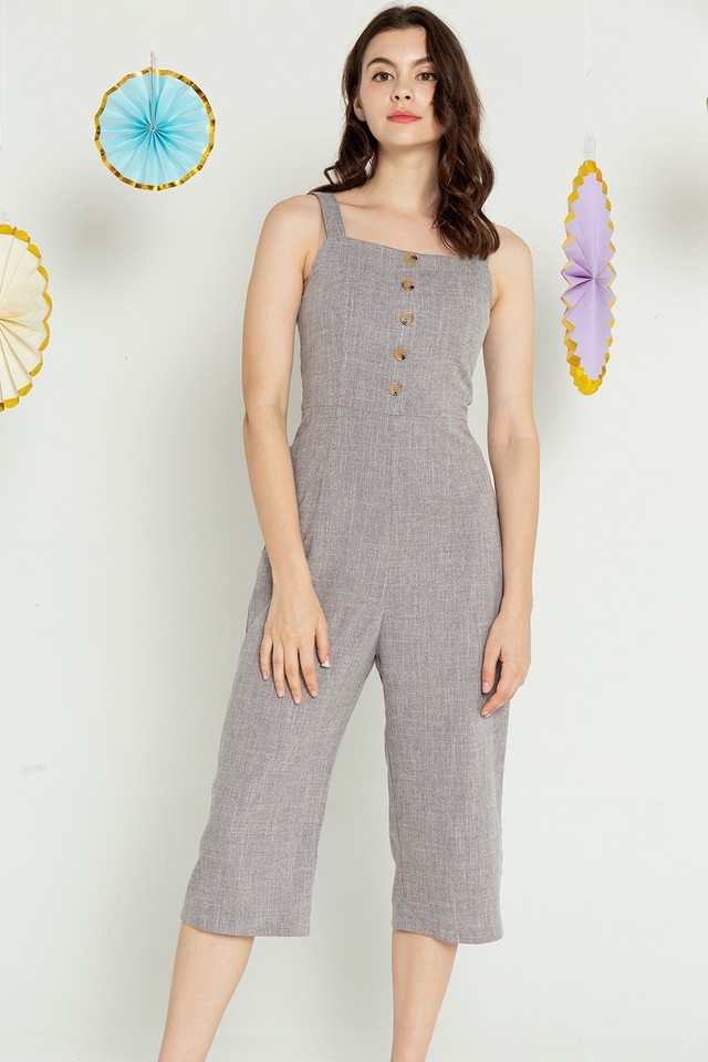 Mikaela Jumpsuit Light Grey