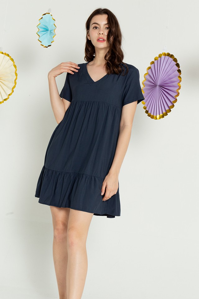Elaina Dress Navy