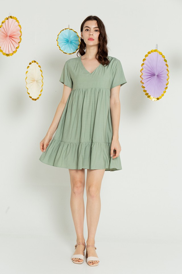 Elaina Dress Sage