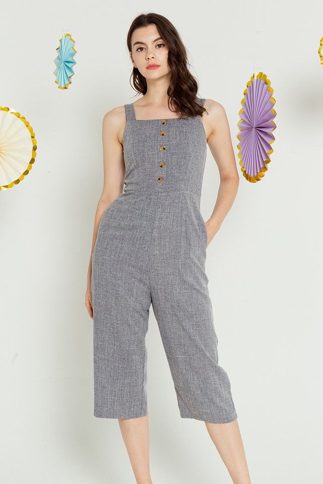 Mikaela Jumpsuit Dark Grey