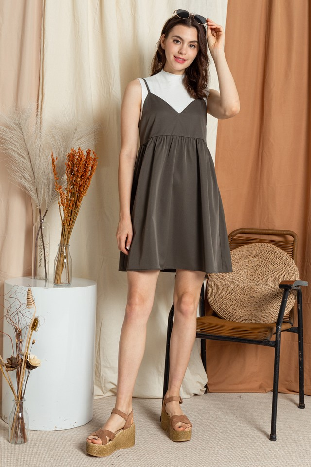 Seanna Slip On Dress Army