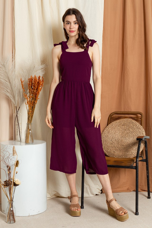 Leah Jumpsuit Burgundy