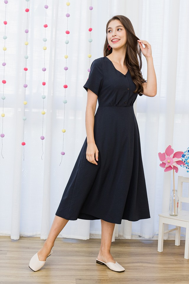Haleigh Dress Navy