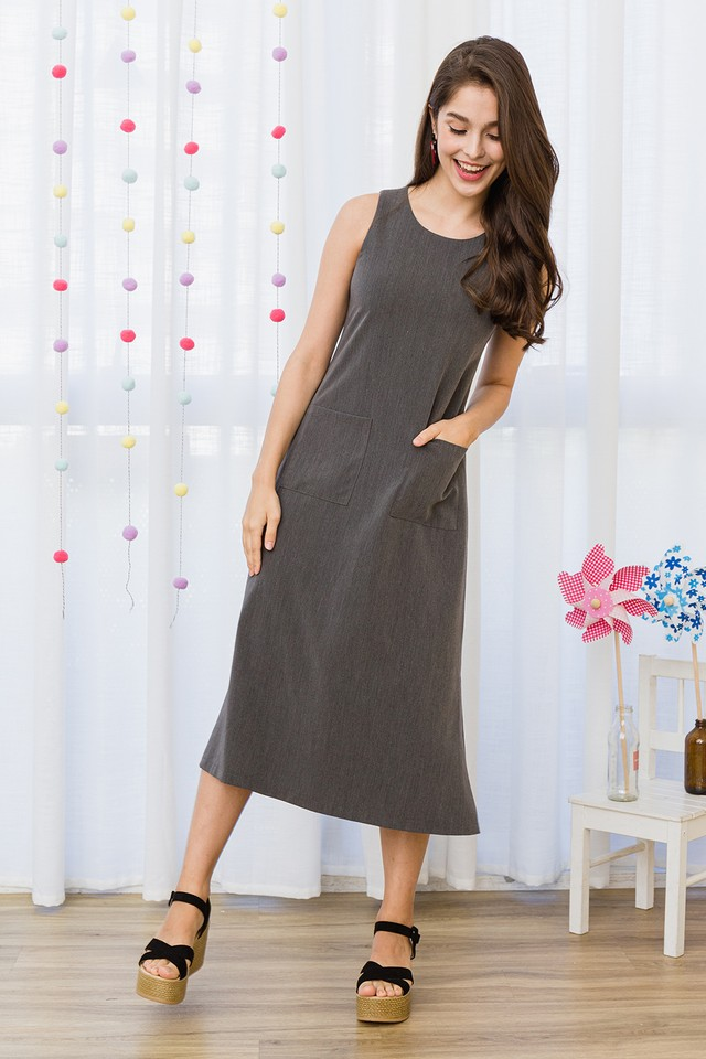 Liberty Dress Grey