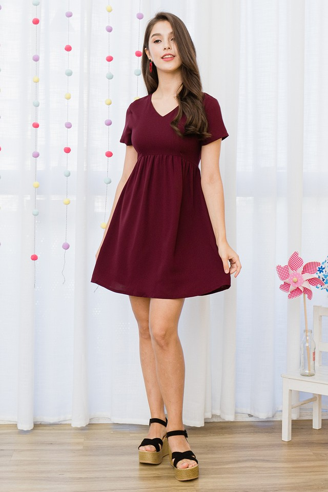 Lessa Dress Wine