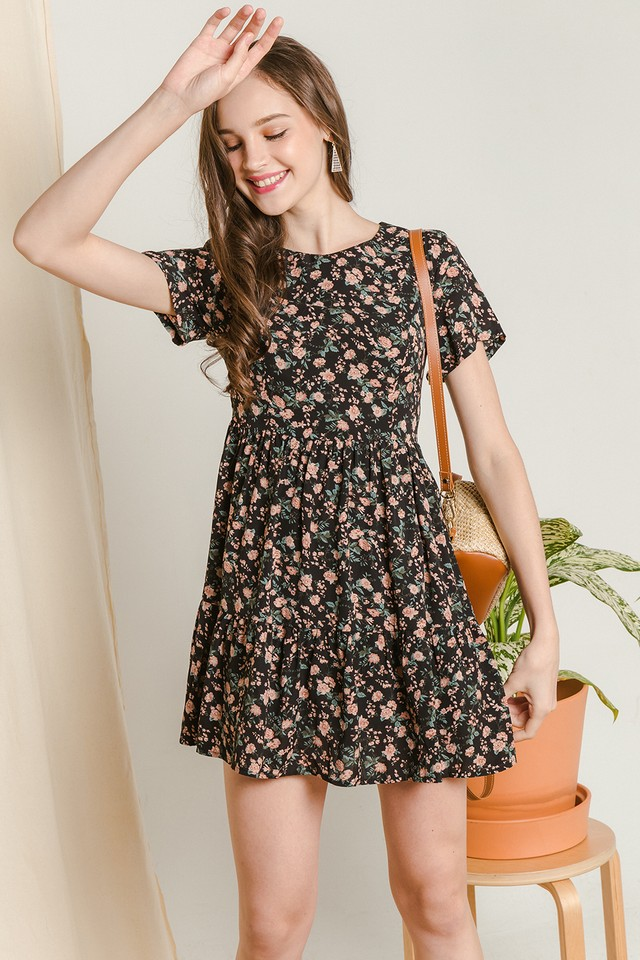 Jady Dress Black Floral