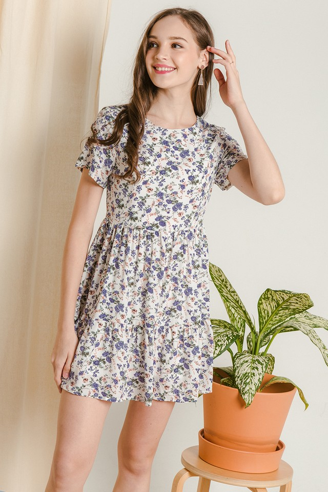 Jady Dress White Floral