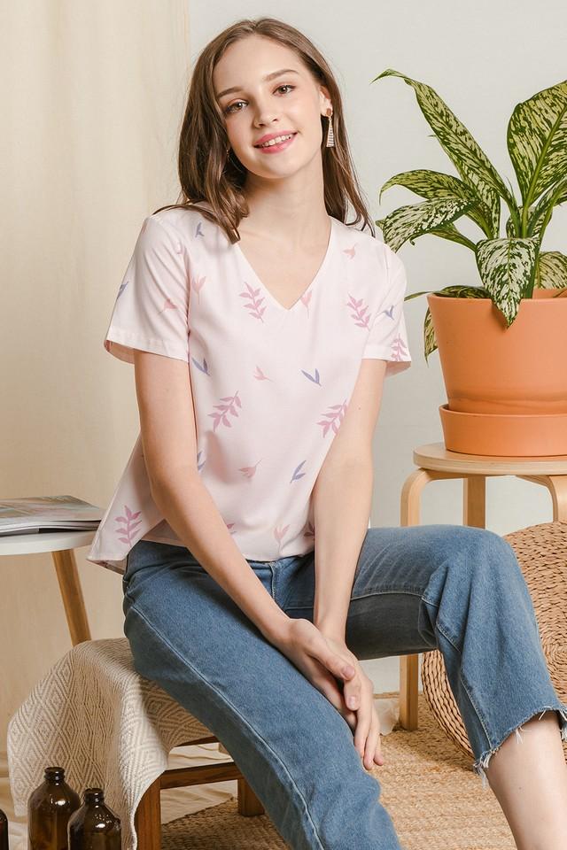 Letitia Top Pink Flora