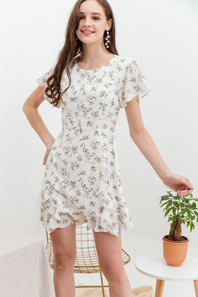 Raegan Dress White Floral