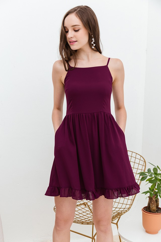 Astra Dress Burgundy